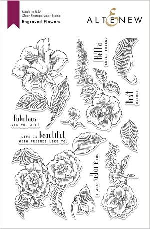 Engraved Flowers Stamp Set
