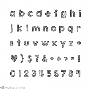 Sketchy Letters Stamp Set