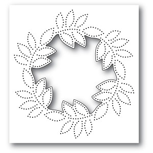 Pinpoint Leaf Circle Collage Die