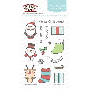 Pop Out Xmas Stamp Set