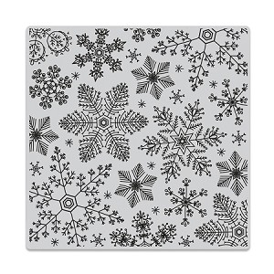 Hand Drawn Snowflakes Bold Prints Background Stamp