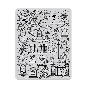 Halloween Scene Background Stamp