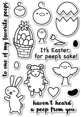 To All My Peeps Stamp Set