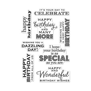 Many Birthday Messages Stamp Set