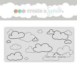 Cloudy Day Cling Stamp