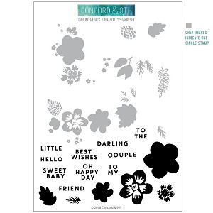 Darling Petals Turnabout Stamp Set