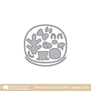 Favor Bag Accessory - Snow Deer Dies