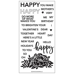 Happy Words Stamp Set