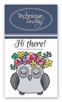 Hi There Owl Stamp Set