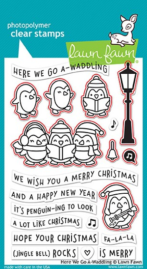Here We Go A-Waddling Stamp Set