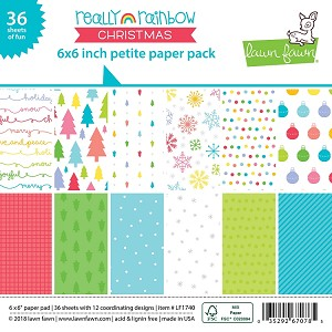 Really Rainbow Christmas 6x6 Paper Pad