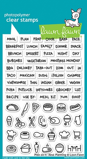 Plan On It: Meal Planning Stamp Set