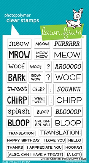 Critter Chatter: Pets Stamp Set