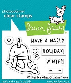 Winter Narwhal Stamp Set