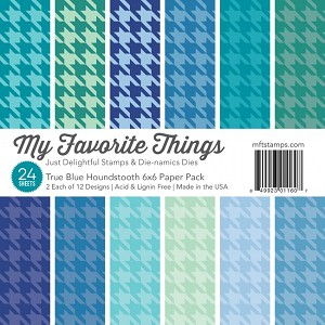True Blue Houndstooth 6x6 Paper Pack