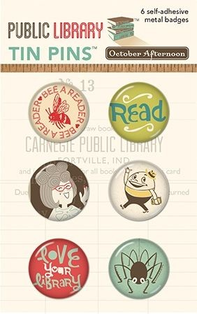 Public Library Tin Pins