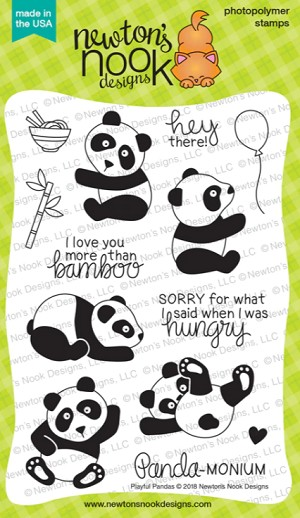Playful Pandas Stamp Set