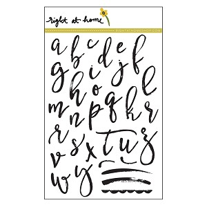 Brushstroke Alphabet Lowercase Stamp Set