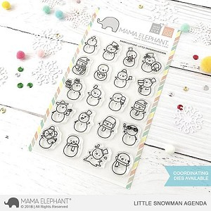 Little Snowman Agenda Stamp Set