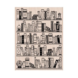 Bookcase Wood Stamp