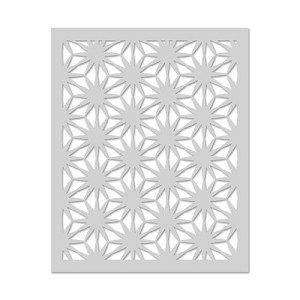 Asian Flower Pattern Stencil
