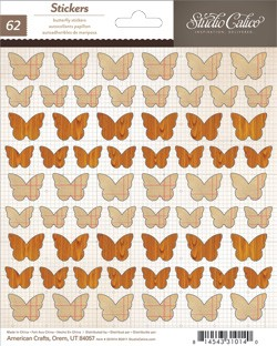 Take Note Stickers Butterflies Graph