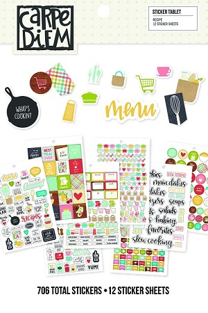 Carpe Diem Recipe Sticker Tablet