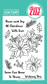 Holiday Bouquet Stamp Set