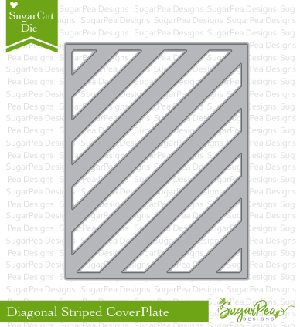 Diagonal Striped Cover Plate Die