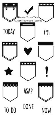 Planner Today Tabs Stamp Set