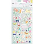 Stay Colorful Puffy Stickers