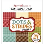 Celebrate Autumn Dots & Stripes Gingham 6x6 Paper Pad