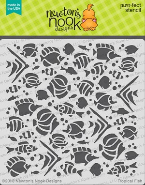 Tropical Fish Stencil