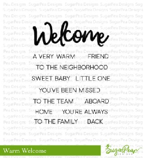 Warm Welcome Stamp Set