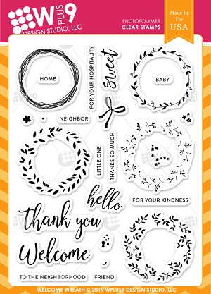 Welcome Wreath Stamp Set