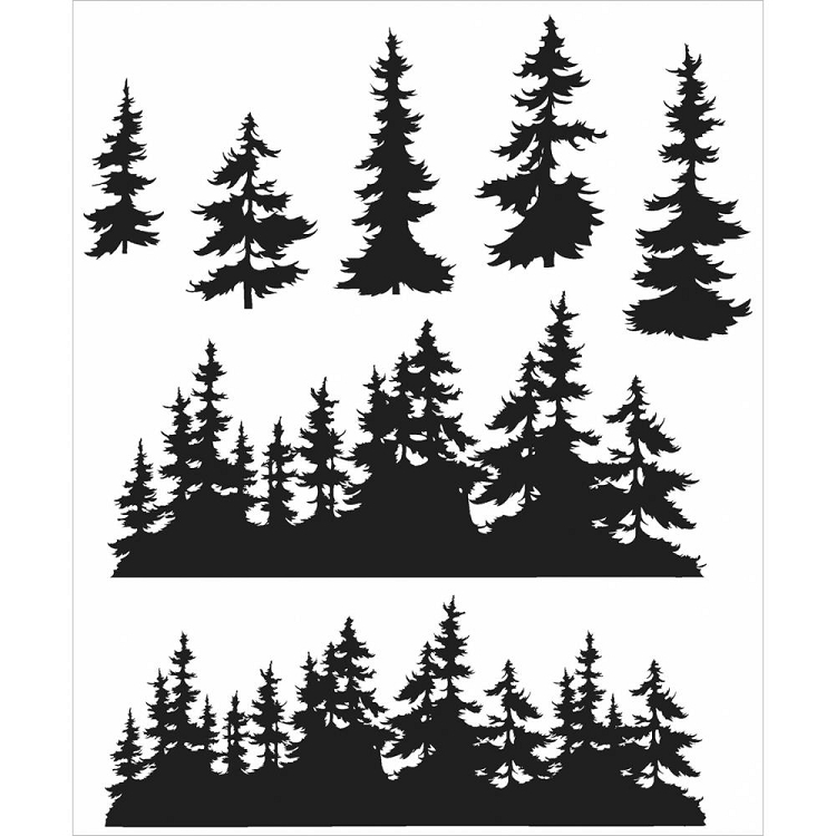 Tree Line Stamp Set