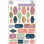 Indigo Hills 2 Gold Foil Wood Veneer  Stickers