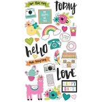 Oh Happy Day Chipboard Stickers