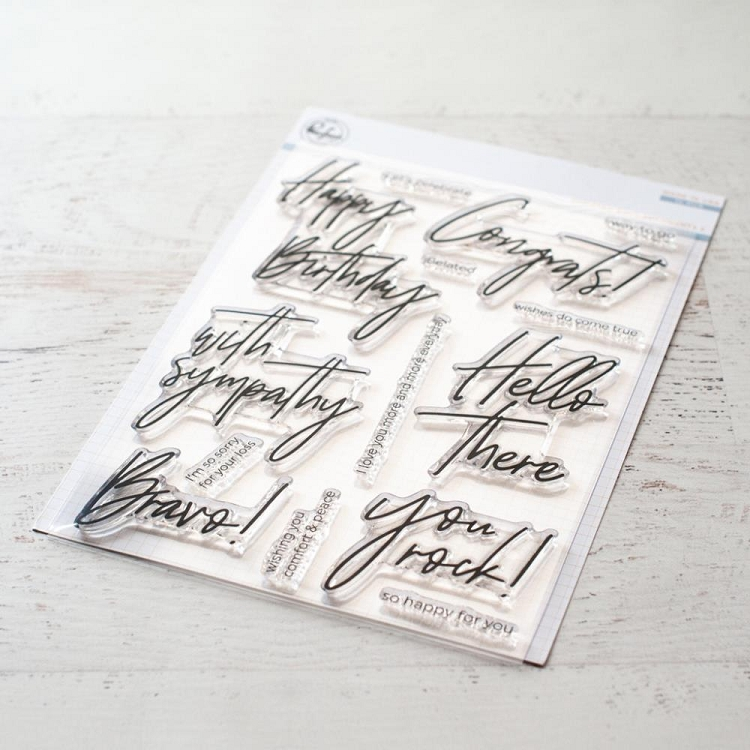 Scripted Bold Sentiments 2 Stamp Set