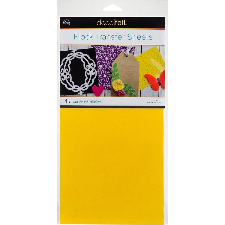 6x12 Deco Foil Flock Sunshine Yellow