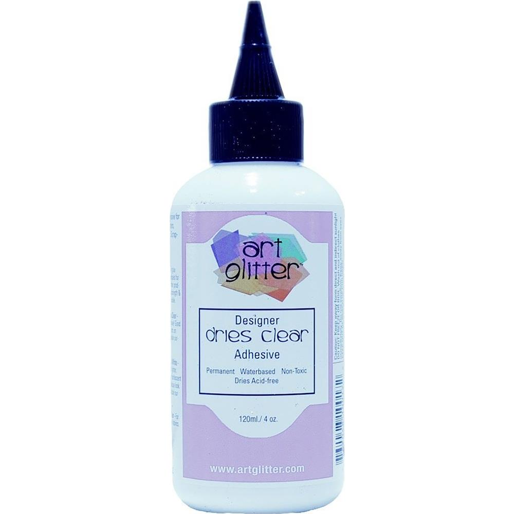 Dries Clear Glitter Glue Adhesive 4oz