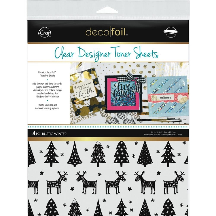 8.5x11 Deco Foil Rustic Winter Toner Sheets