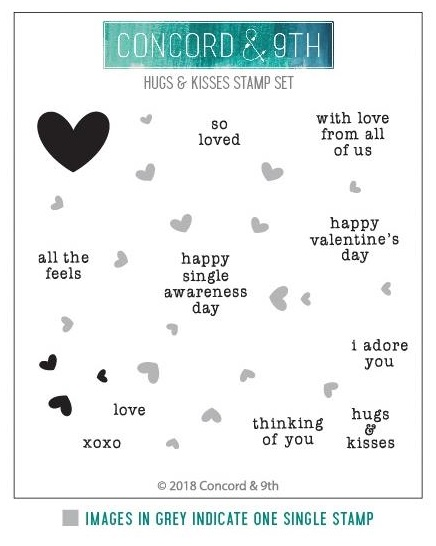 Hugs & Kisses Turnabout Stamp Set