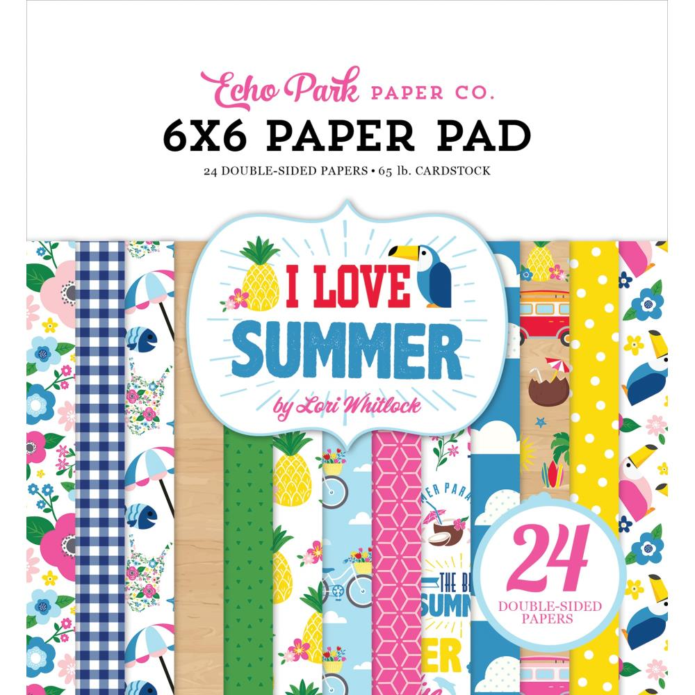 I Love Summer 6x6 Paper Pad