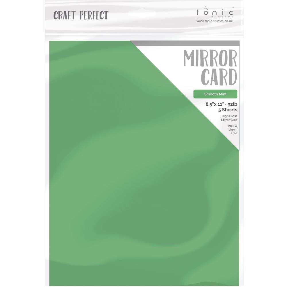 Mirror Glossy Cardstock 8.5 x 11 Smooth Mint