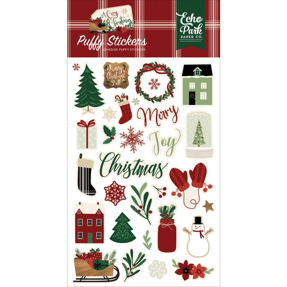 A Cozy Christmas Puffy Stickers
