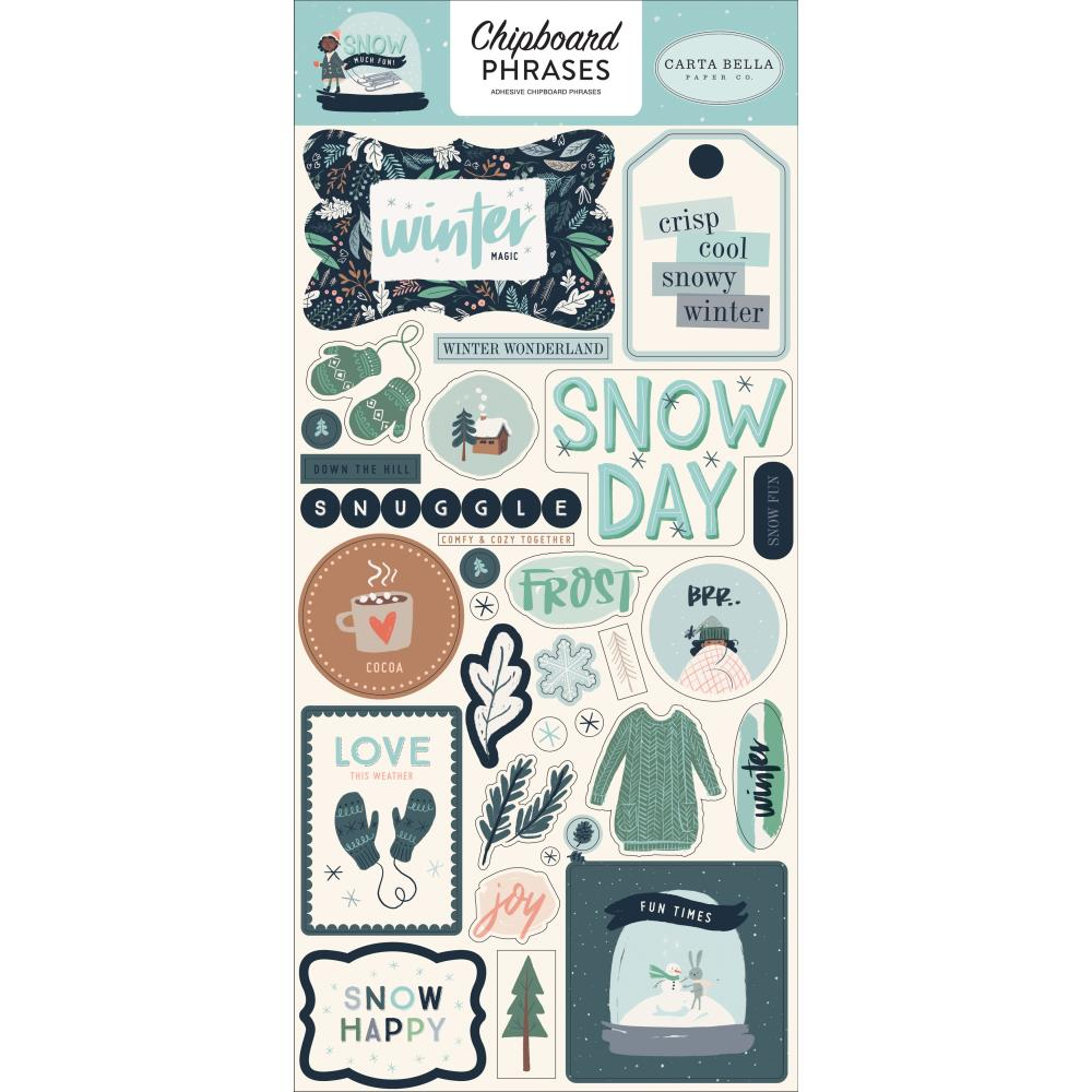 Snow Much Fun Phrases Chipboard
