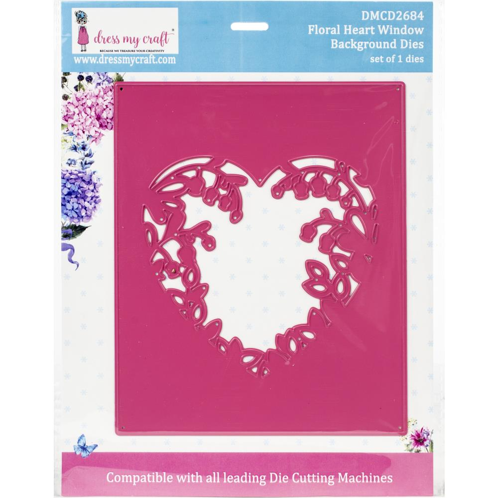 Floral Heart Window Die