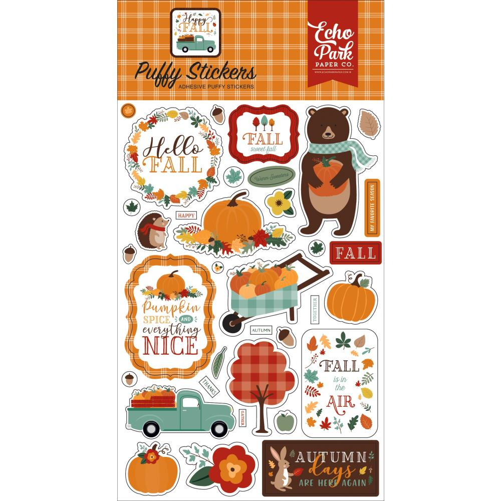 Happy Fall Puffy Stickers