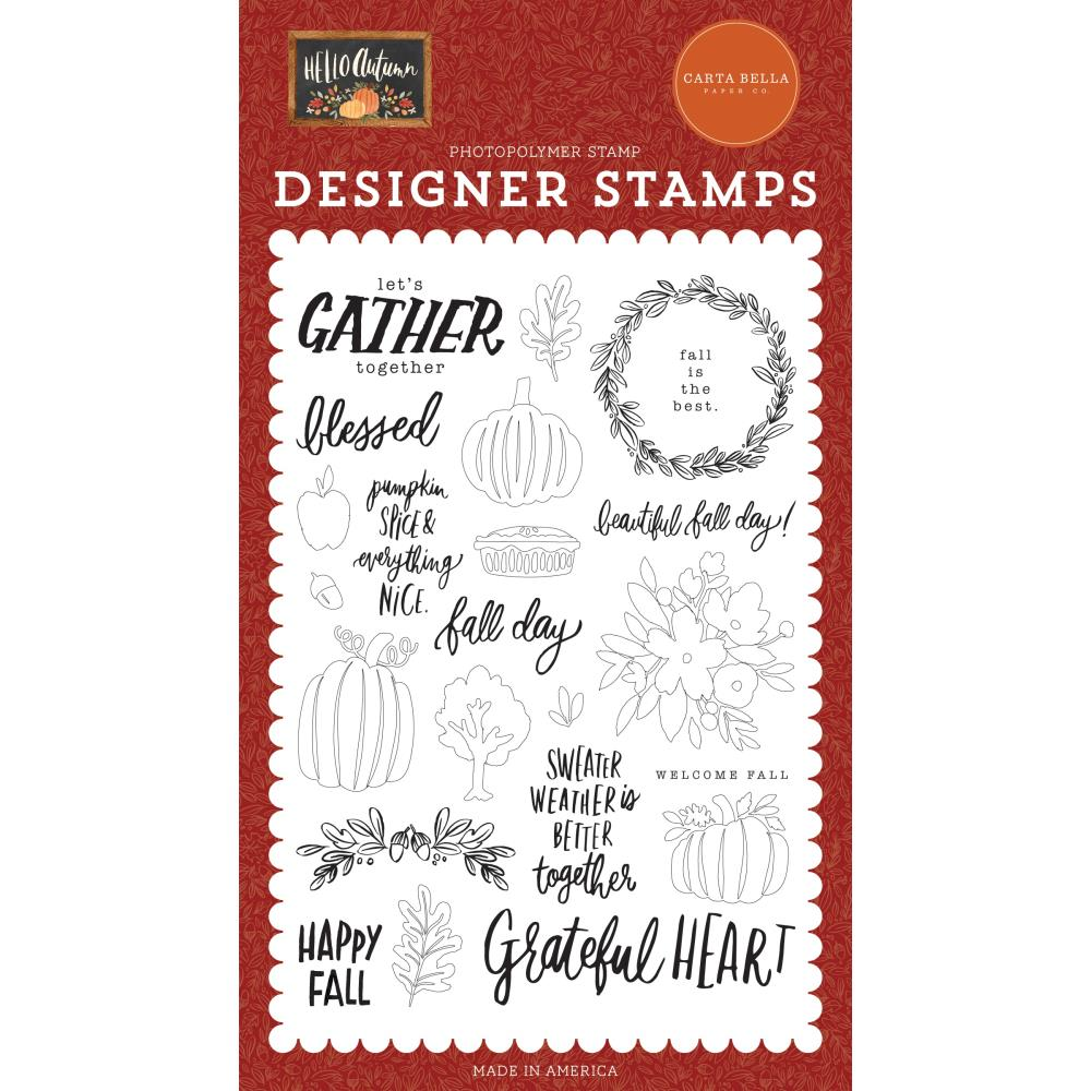 Hello Autumn Fall Day Stamp Set